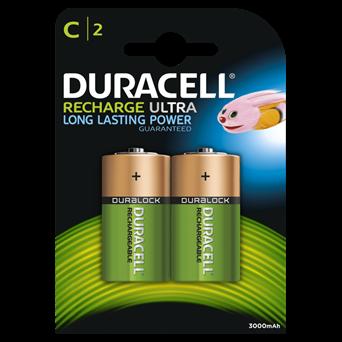 Duracell Rechargable Ultra C Battery 3000mah 2s (DURHR14B2)
